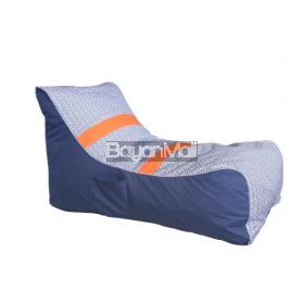 6109 Orange Dot Bean Bag