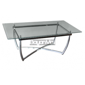 Cf3056 Glass + Chrome Coffee Table