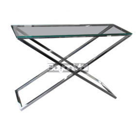 Gg-1006 Clear Glass Console Table