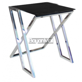 Jj-1019 Black Glass Side Table