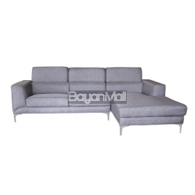 Mb-1364c Black Modern L-Shape Sofa