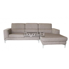 Mb-1364c Coffee Modern L-Shape Sofa