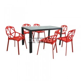 DT565 Dining Table Plus DC852 6 Seater Dining Set