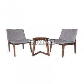 MIT-1096 TABLE + MI-335 LOUNGE CHAIR 2 SEATER COFFEE SET