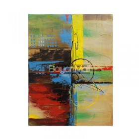 HC121500A Yellow Abstract Oil Painting
