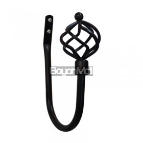 WL-J04 BLACK TIEBACK HOLDER 19mm