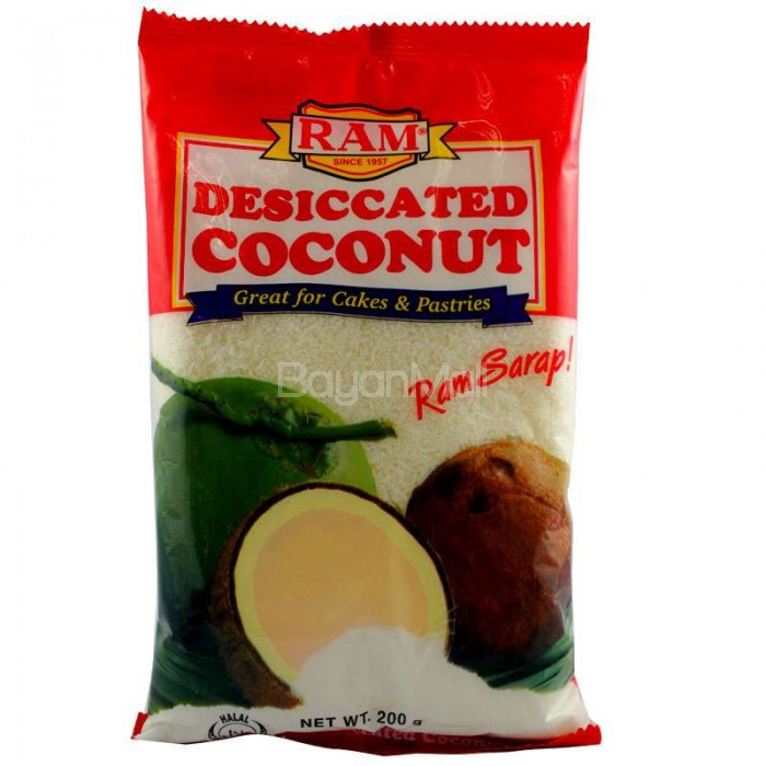 ram desiccated coconut   great for cakes  u0026 pastries   200g