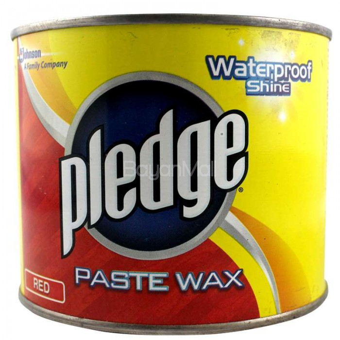 Pledge Paste Wax Waterproof Shine Red 450g
