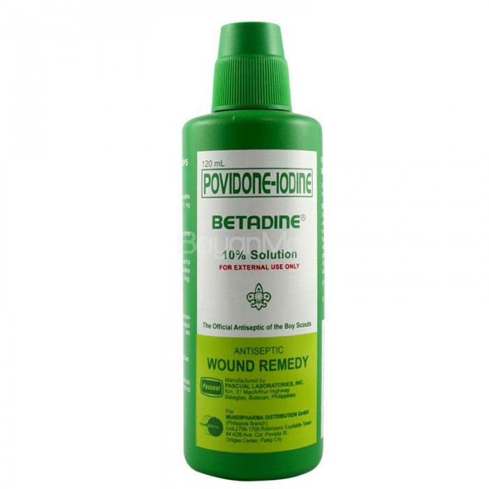 Betadine 10% Solution - Antiseptic / Wound Remedy 120ml