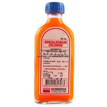 Benzalkonium Chloride Antiseptic 10 Tincture Solution 50ml
