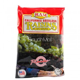 Ram California Seedless Raisins (100% Natural) 200g