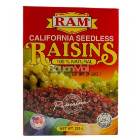 Ram California Seedless Raisins (100% Natural) 225g