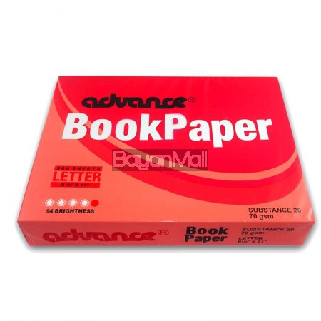 Advance Book Paper Substance 20 - 500 Sheets - Letter Size