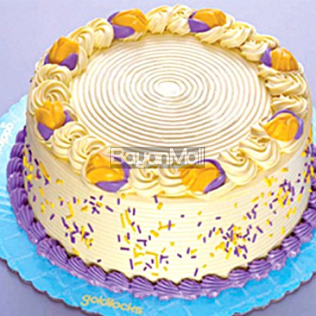 """Creamy Quezo Ube Cake - 9"""" Round - Goldilocks"""