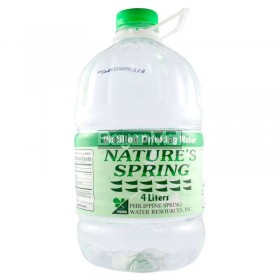Nature's Spring Distilled Dringking Water 4 Liters