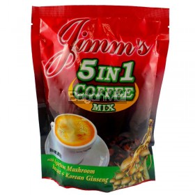 Jimm's 5in1 Coffee Mix Net. Wt. 400g in a pack
