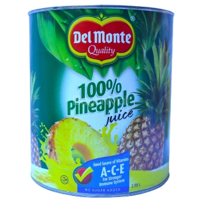 cb714ebf5 Del Monte 100% Pineapple Juice 2.90L in can