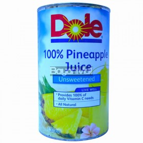 Dole 100% Pineapple Juice Unsweetened 1.36L in can