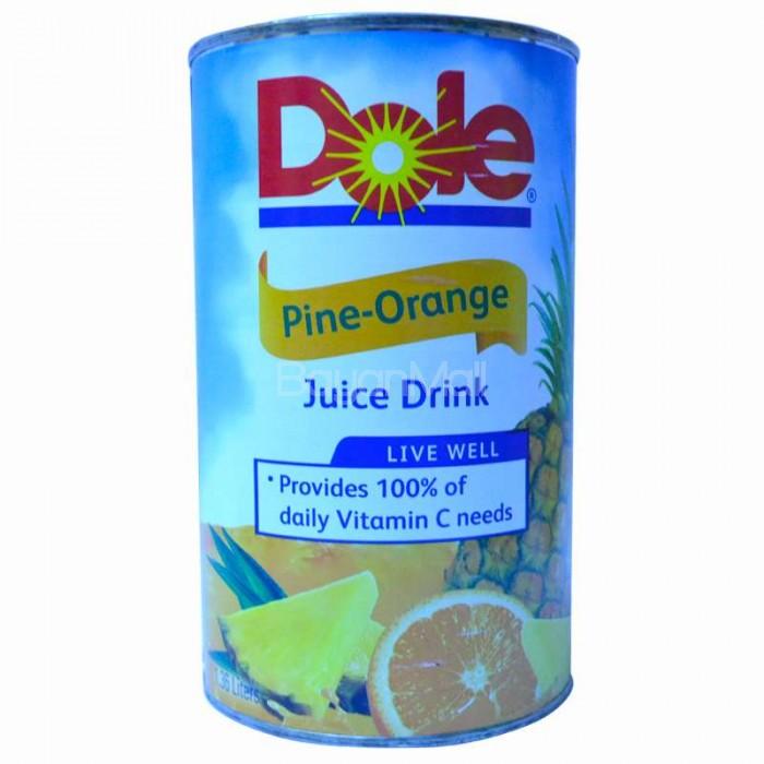 dole pineorange juice drink 136l in can