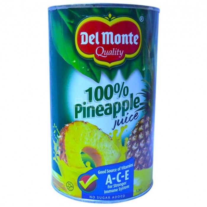 Del Monte 100 Pineapple Juice With Ace 136l In Can