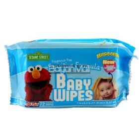 Sesame Street Fragrance Free Sensitive Formula Baby Wipes 270g
