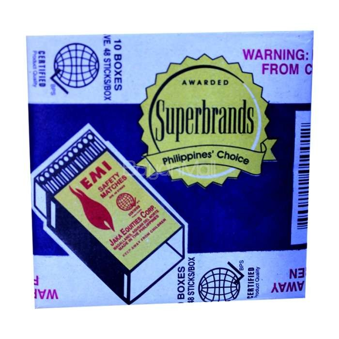 Emi Safety Matches 10 Boxes
