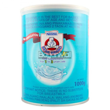 Nestle Bear Brand Jr. Milk Supplement for 1-3 years old 1000g in can